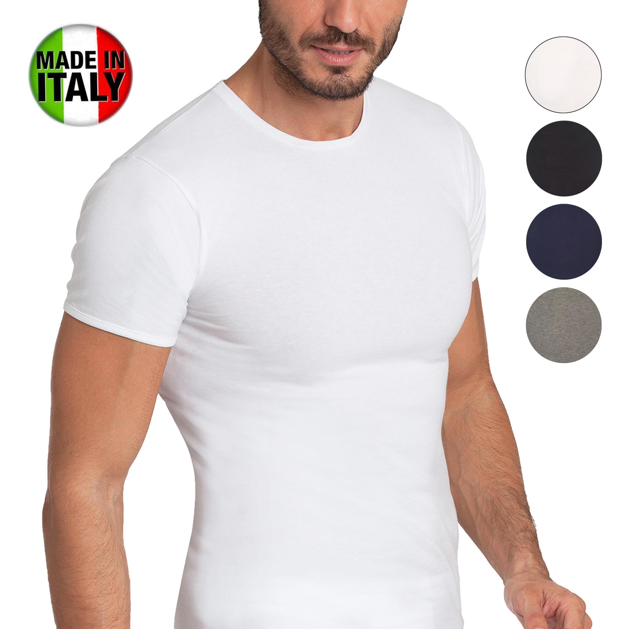 RAGNO 3/Maglia Intima Uomo Mezza Manica Corta Girocollo Art 65457 Lana Cotone